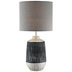 Lite Source Montana Gray Ceramic Table Lamp w/ Gray Shade