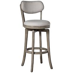 "Hillsdale Sloan 25 1/2"" Aged Gray Swivel Counter Stool"