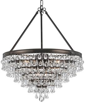 "Calypso 24"" Wide Vibrant Bronze and Crystal Chandelier (6F644) 6F644"