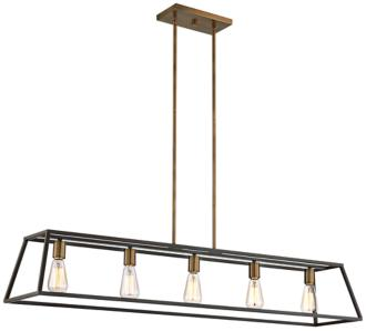 "Hinkley Fulton 50"" Wide Bronze Island Pendant Light (6K319)"