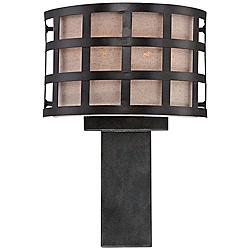 "Quoizel Marisol 16"" High Teco Marrone 2-Light Wall Sconce"