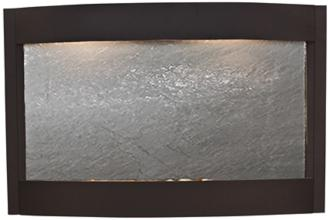 "Calming Waters Black Stone Textured Black 35""H Wall Fountain (6V058)"
