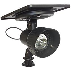 "Progressive Solar 8 1/2"" High Black Dual-Mount Spotlight"