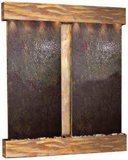 Cottonwood Falls Rustic Copper Featherstone Wall Fountain (6V587)