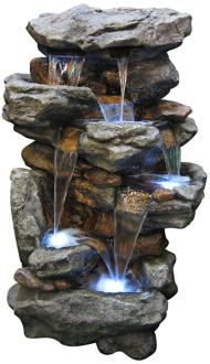 "Rainforest Waterfall Tall LED 51"" High Floor Fountain (6Y289)"