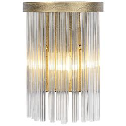 "Varaluz Amelia 13"" High Havana Gold and Crystal Wall Sconce"