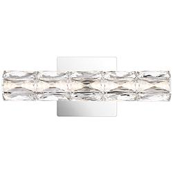 "Platinum Luster 14 3/4"" Wide Polished Chrome LED Bath Light"