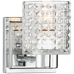 "Possini Euro Sari 6 1/4""H Glass and Chrome Wall Sconce"