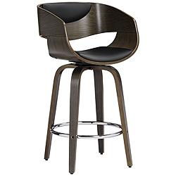"Carson 23 1/2"" High Black and Gray Swivel Counter Stool"