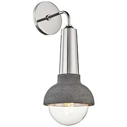 "Mitzi Macy 17"" High Polished Nickel Wall Sconce"