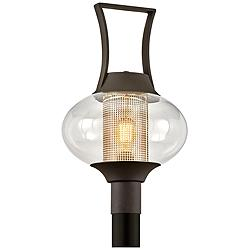"Horton 21 1/4"" High Texture Bronze Outdoor Post Light"