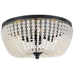 "Crystorama Rylee 18"" Wide Matte Black Ceiling Light"