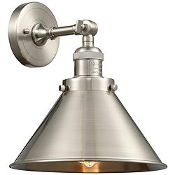 "Briarcliff 8""H Brushed Satin Nickel Adjustable Wall Sconce"