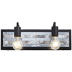 "Abbey Rose 6"" High Black and Galvanized 2-Light Wall Sconce"