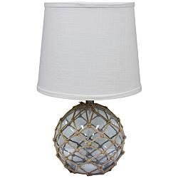 "Fisherman Friend 19 1/2""H Smoke Netted Accent Table Lamp"