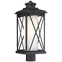 "Lansdale 20 3/4"" High Matte Black Outdoor Post Light"