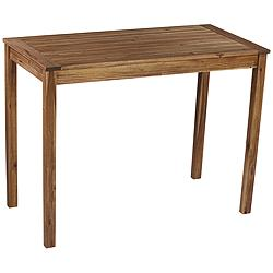 "Nova 48"" Wide Natural Wood Outdoor Bar Table"