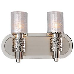 "Ashington 8 1/2"" High Satin Nickel 2-Light Wall Sconce"