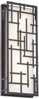 "Modern Lines 16 1/4"" High Bronze LED Outdoor Wall Light (7K575) 7K575"