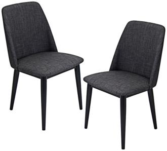 Tintori Charcoal Modern Dining Chair Set of 2 (7K913) 7K913