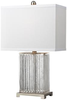 Dimond Ribbed Clear Glass Table Lamp (7T035) 7T035