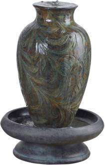 "Brielle Engraved Relief 29 1/2"" High Urn LED Fountain (7V420)"