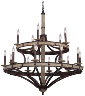 "Coronado Florence Gold 38""W Wrought Iron Chandelier (7W009)"