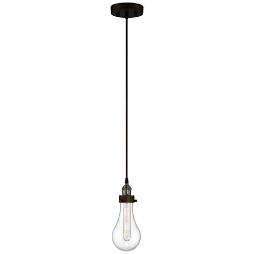 "Coleman Rust 10 3/4"" High Hanging Glass Globe Mini Pendant"