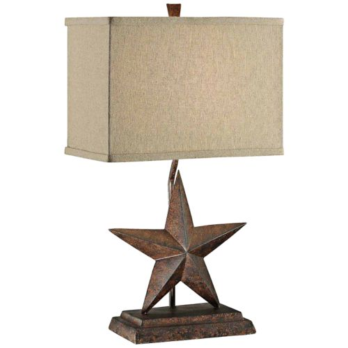Crestview Collection Rustic Star Table Lamp
