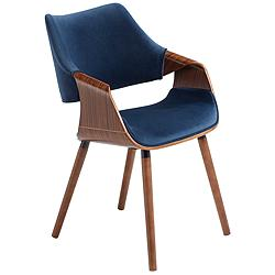 Westin Blue Fabric and Beech Wood Dining Chair