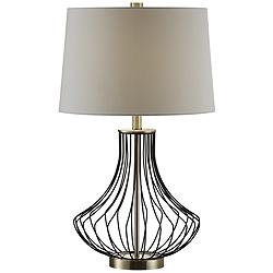 Crestview Collection Carter Bronze and Brass Table Lamp