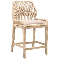 "Loom 26"" Sand Rope and Stone Wash Counter Stool"