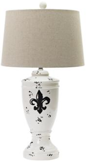Seychelles Fleur-De-Lis Ceramic Table Lamp (8C770)