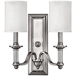 "Hinkley Sussex 15 3/4"" High Brushed Nickel Wall Sconce"