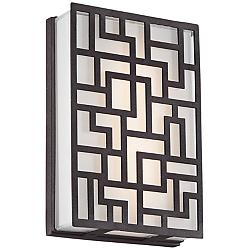"George Kovacs Alecia's Necklace 9""H LED Outdoor Wall Light"