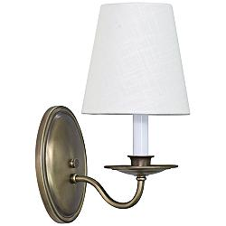 "Lake Shore Curved 11 1/2"" High Antique Brass Wall Sconce"