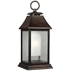 "Feiss Shepherd 21""H Copper Outdoor Hanging Light"