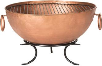 "Bangkok Copper 32"" Wide Roman Kettle Tub Fire Pit (8N950)"