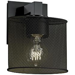 "Modular Mesh 7 3/4"" High Vintage Matte Black Wall Sconce"