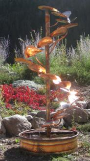 "The Tree of Life 72"" High Indoor-Outdoor Copper Fountain (8X024)"