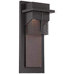 "Beacon 15 1/2""H LED Burnished Bronze Outdoor Wall Light"