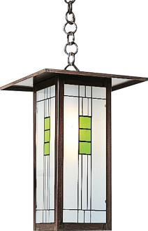 "Franklin 9""W Bronze Outdoor Mini-Pendant by Arroyo Craftsman (8Y706)"