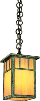 "Huntington 5"" Wide Verdigris Patina Mini Pendant (8Y708)"