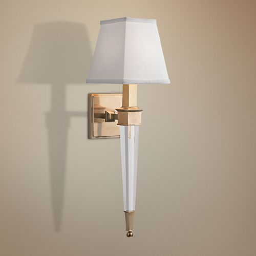 "Hudson Valley Ruskin 20 1/2"" High Aged Brass Wall Sconce"