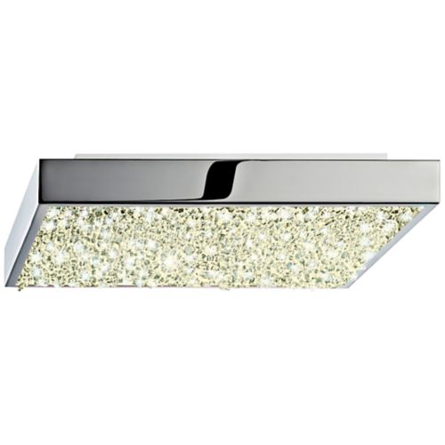 "Sonneman Dazzle 10"" Wide Square Chrome LED Ceiling Light"