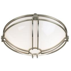 "Bradbury 15"" Wide Brushed Nickel Bowl Ceiling Light"