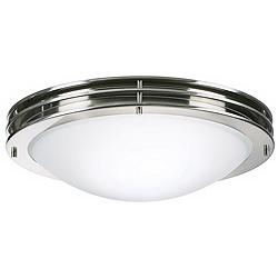 "Studio 16"" Wide Brushed Nickel White Bowl Ceiling Light"