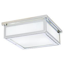"Warnock 11 3/4"" Wide Polished Chrome Square Ceiling Light"