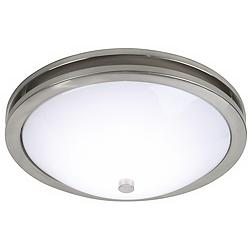 "Dramona 15"" Wide Brushed Nickel Round Ceiling Light"