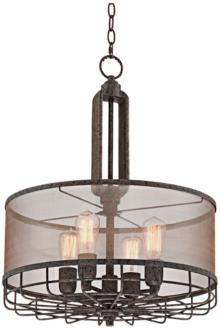 "Possini Euro Hillger 20 1/4""W Rust Pendant Light (9C093)"